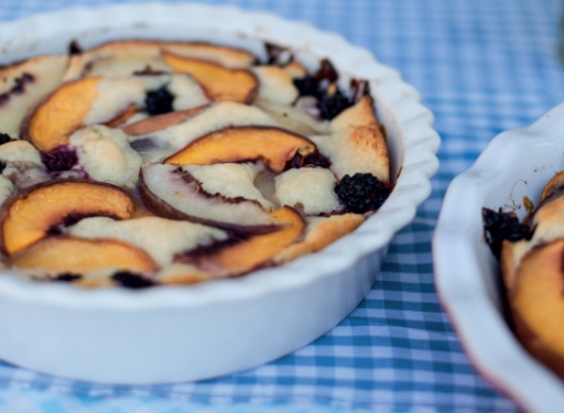 Rachel's Peach Blackberry Cobbler