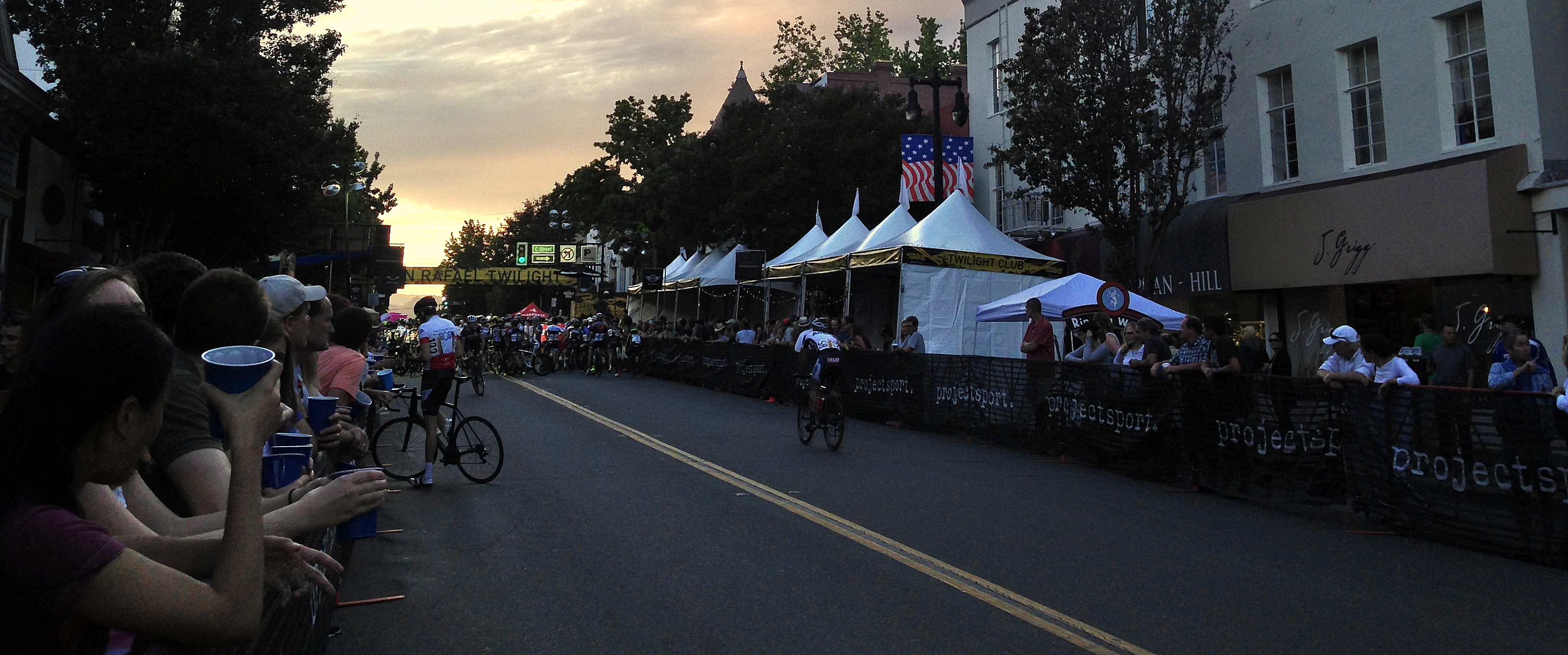 Drums & Crumbs at San Rafael Twilight Criterium VIP Tent