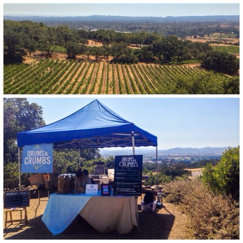 Drums & Crumbs at Paradise Ridge Winery Wines & Sunsets